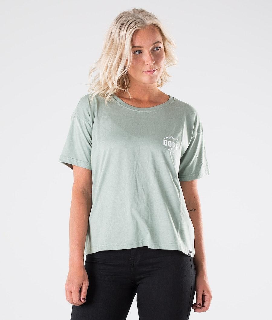 Dope Grand Paradise II T-shirt Dam Faded Green