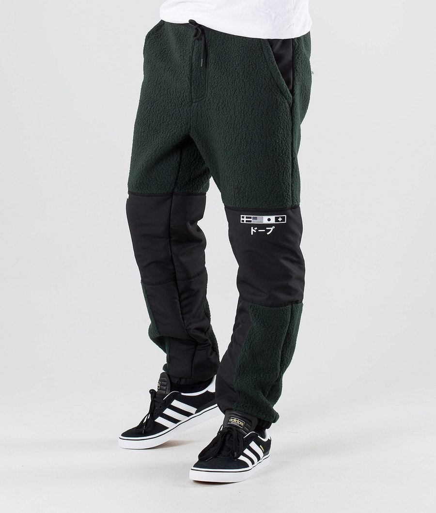 Dope KB Ollie Fleece Pants Green Black