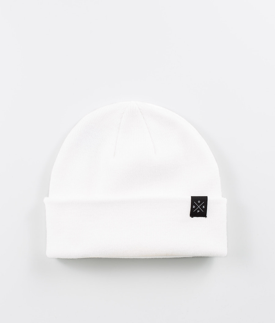 Dope Folded Solitude Beanie Optic White