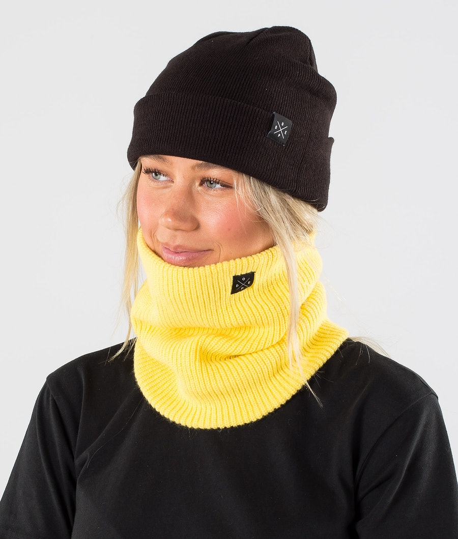 Dope 2X-UP Knitted Skimaske Faded Yellow