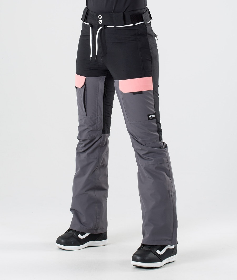 Dope Grace Snow Pants Black Pink Pearl