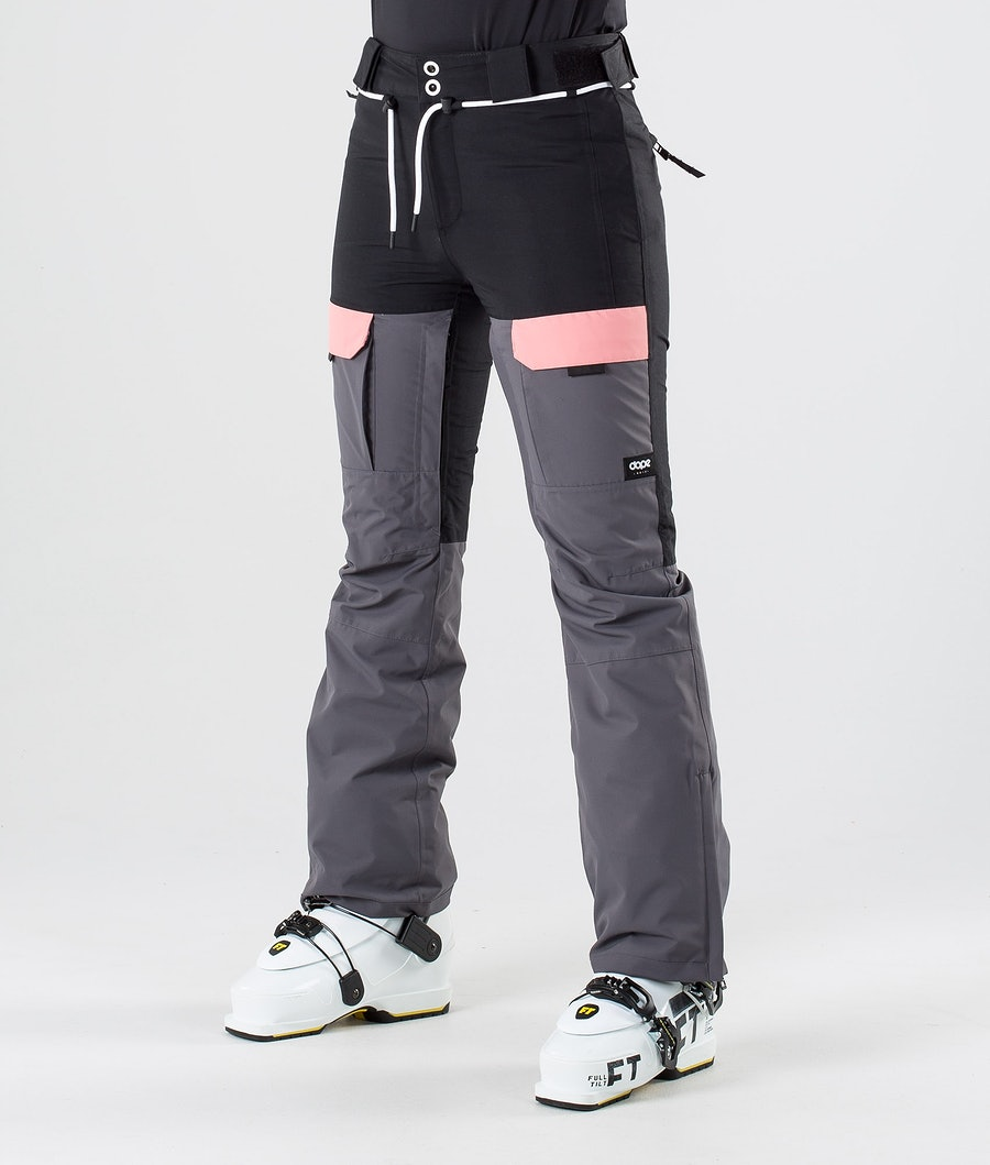 Dope Grace Women's Ski Pants Black Pink Pearl