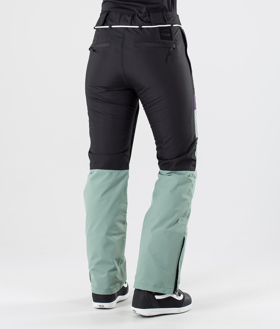 Dope Grace Pantalon de Snowboard Femme Black Grape Faded Green