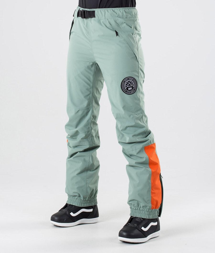 Dope Blizzard W Snow Pants Faded Green Orange