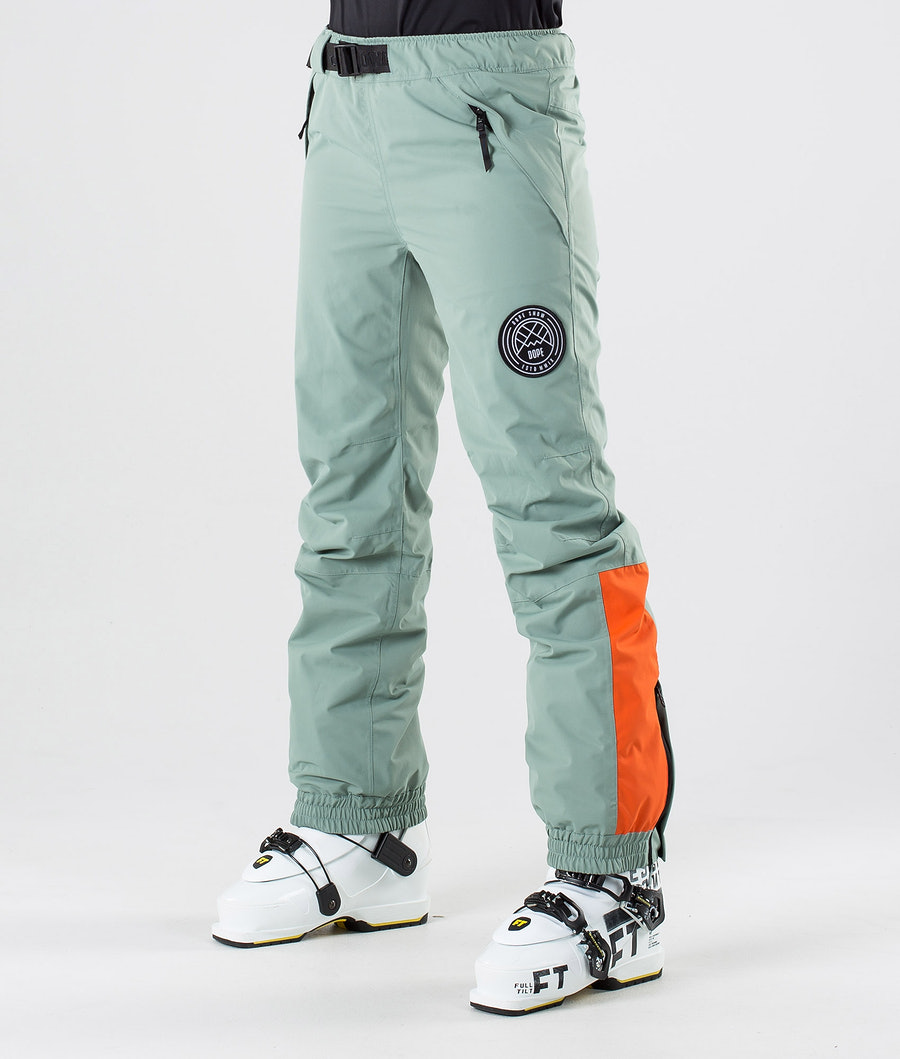 Dope Blizzard LE W Ski Pants Faded Green Orange