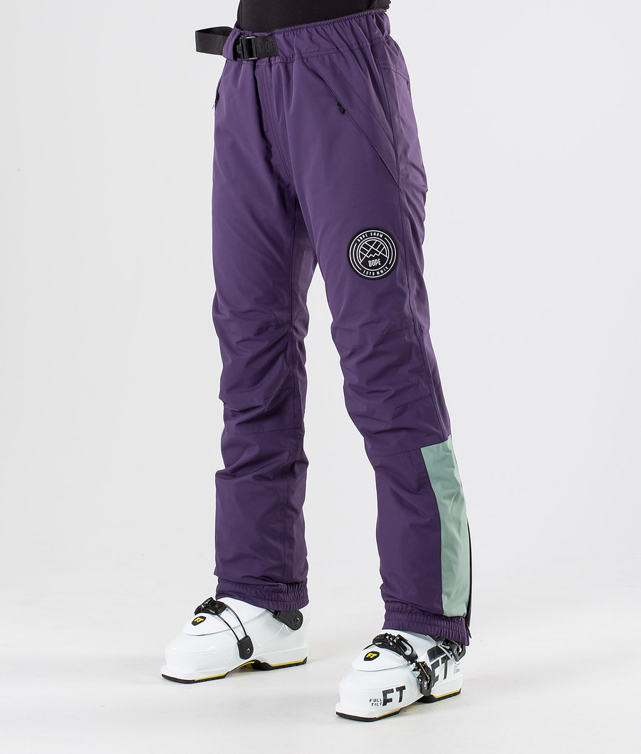 Dope Blizzard W LE Ski Pants Grape Faded Green