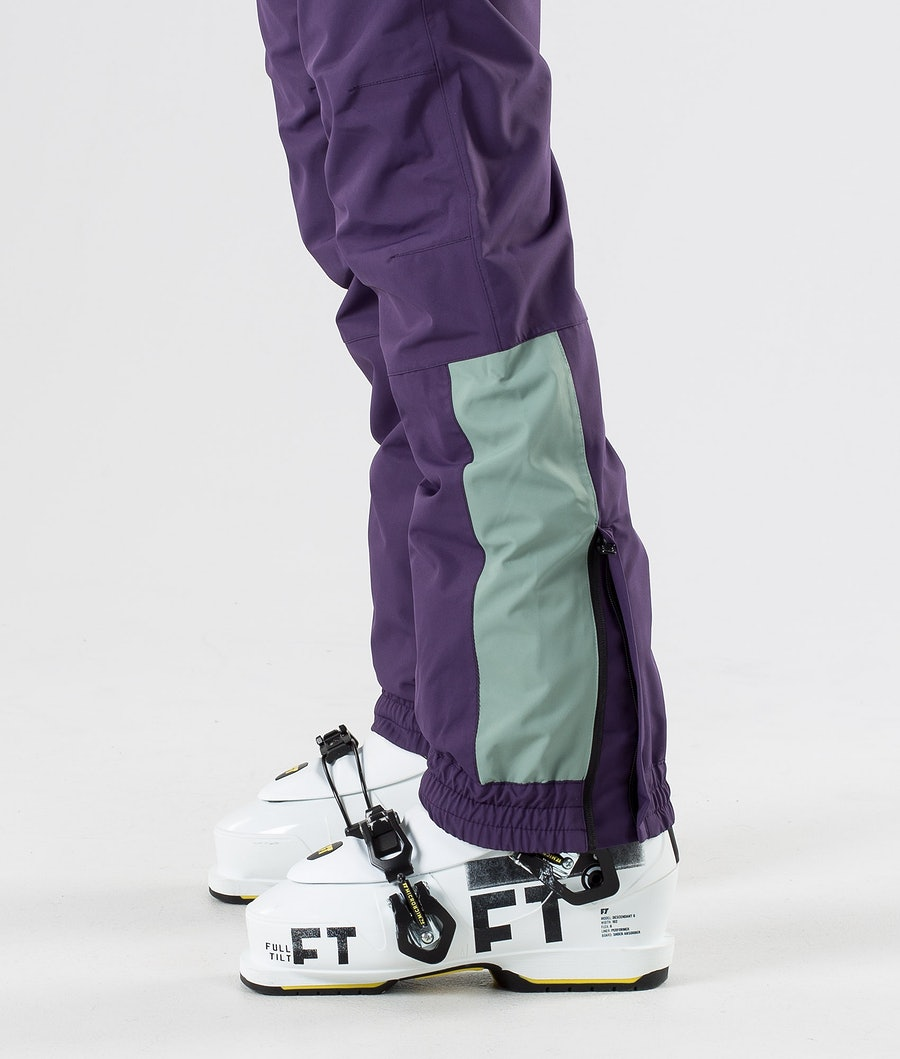 Dope Blizzard W LE Women's Ski Pants Grape Faded Green