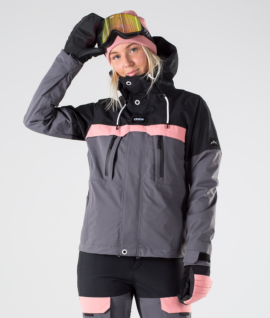 Dope Lunar W Snowboard jas Black Pink Pearl