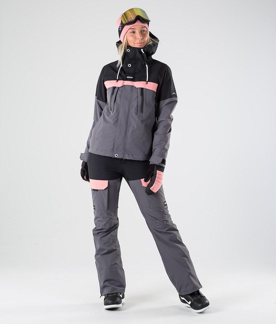 Dope Lunar W Snowboardjakke Dame Black Pink Pearl
