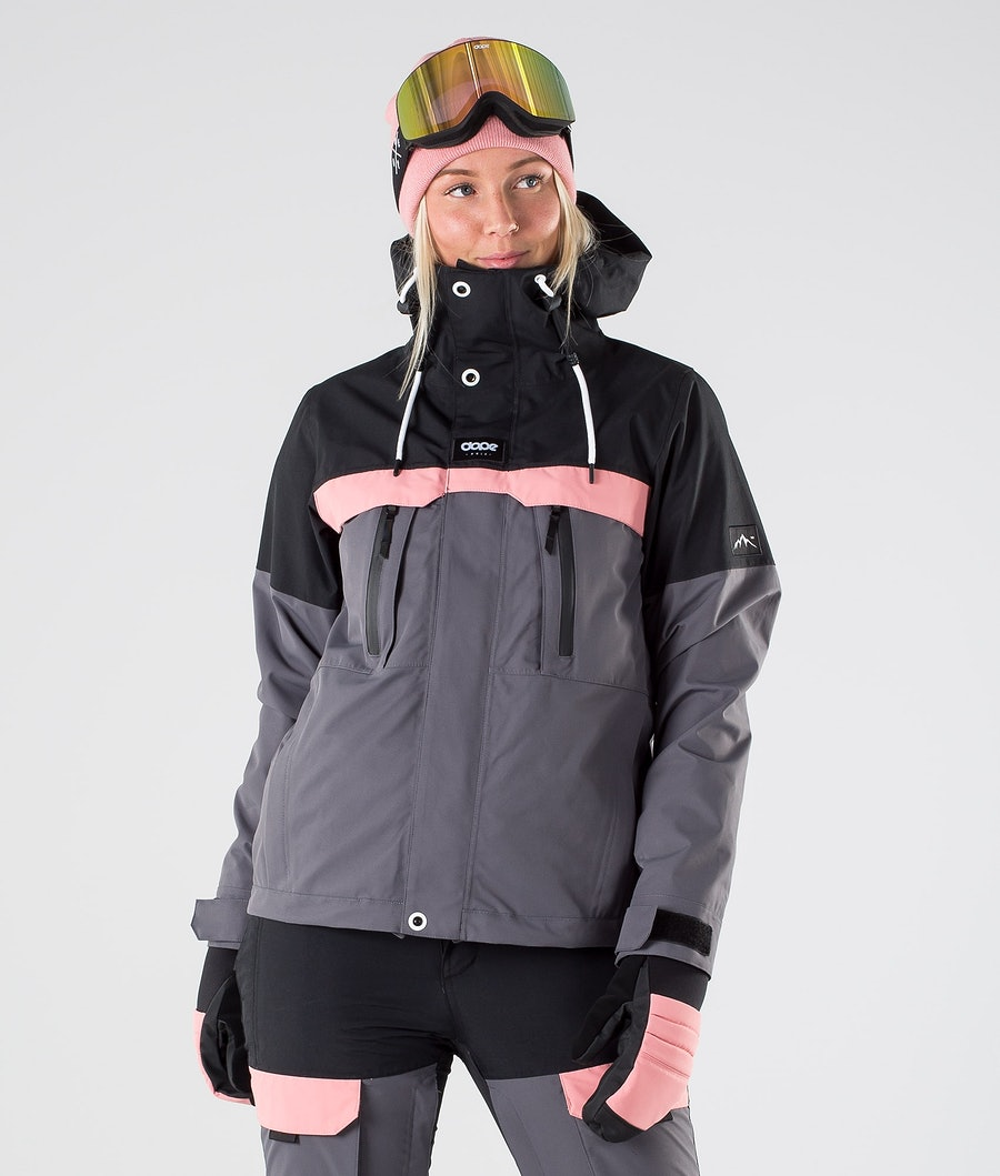 Dope Lunar W Ski Jacket Black Pink Pearl