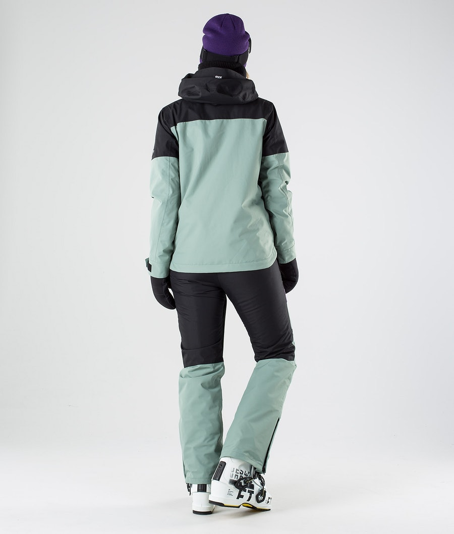 Dope Lunar W Veste de Ski Femme Black Grape Faded Green
