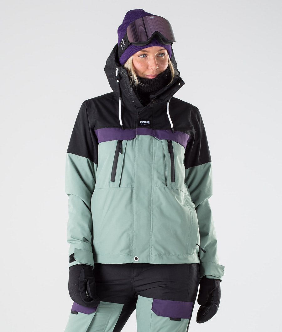 Dope Lunar W Veste de Ski Black Grape Faded Green