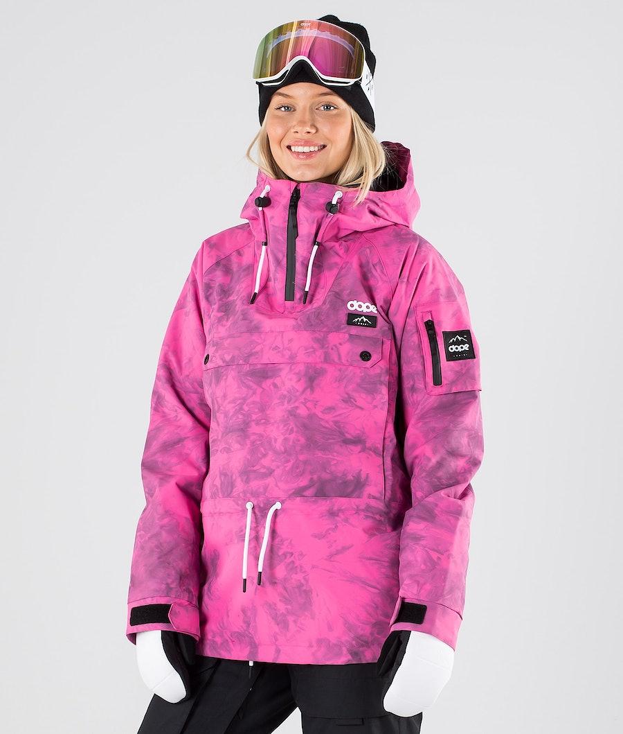 Dope Annok W Skijacke Pink Tiedye