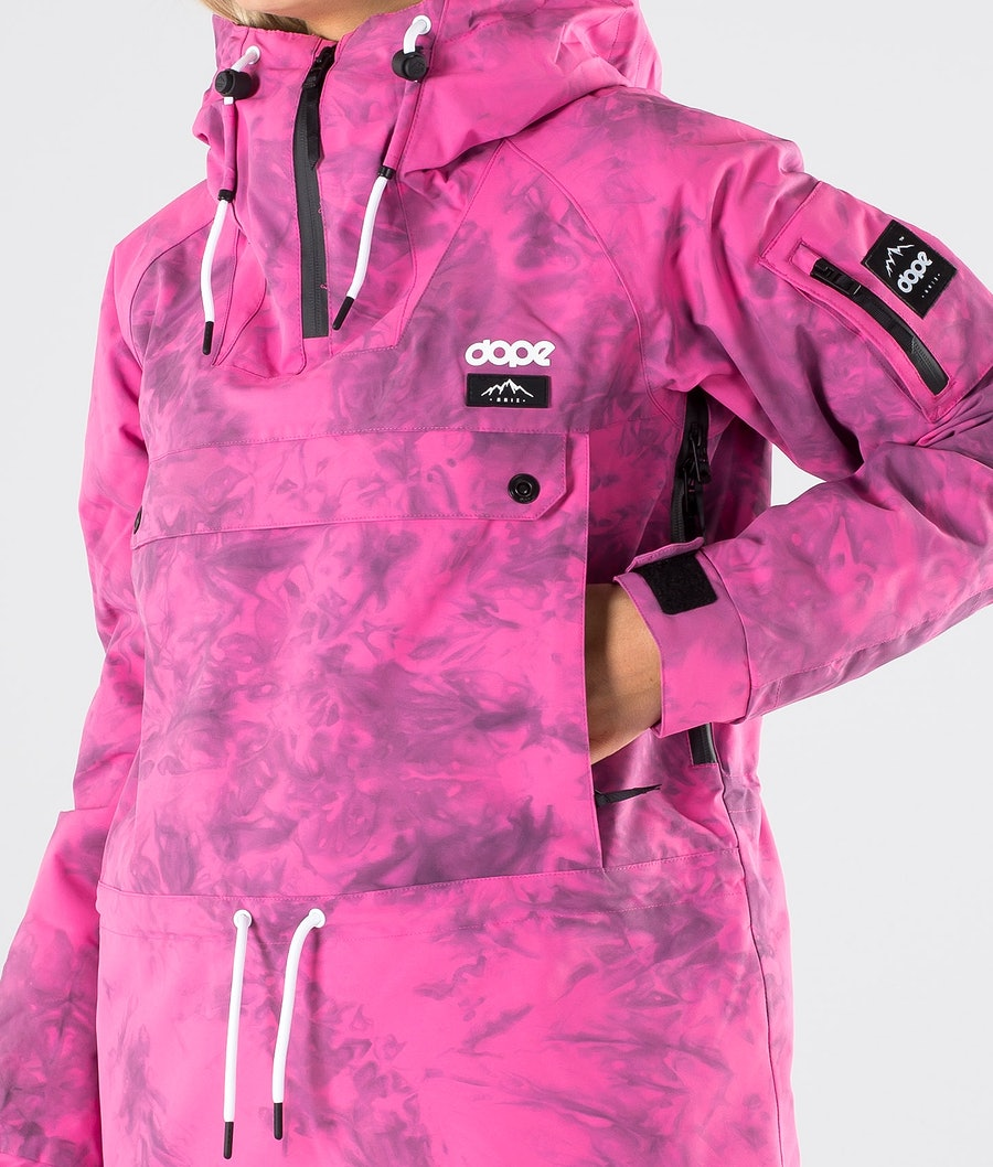 Dope Annok W Veste de Ski Femme Pink Tiedye