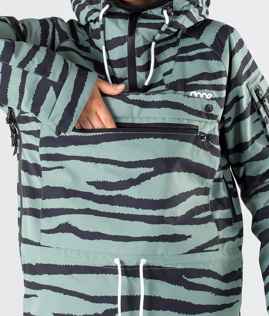 Dope Annok W Skijacke Damen Green Zebra