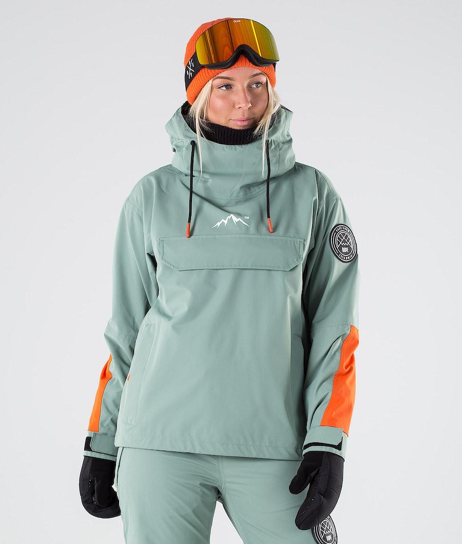 Dope Blizzard LE Snowboard Jacket Faded Green Orange