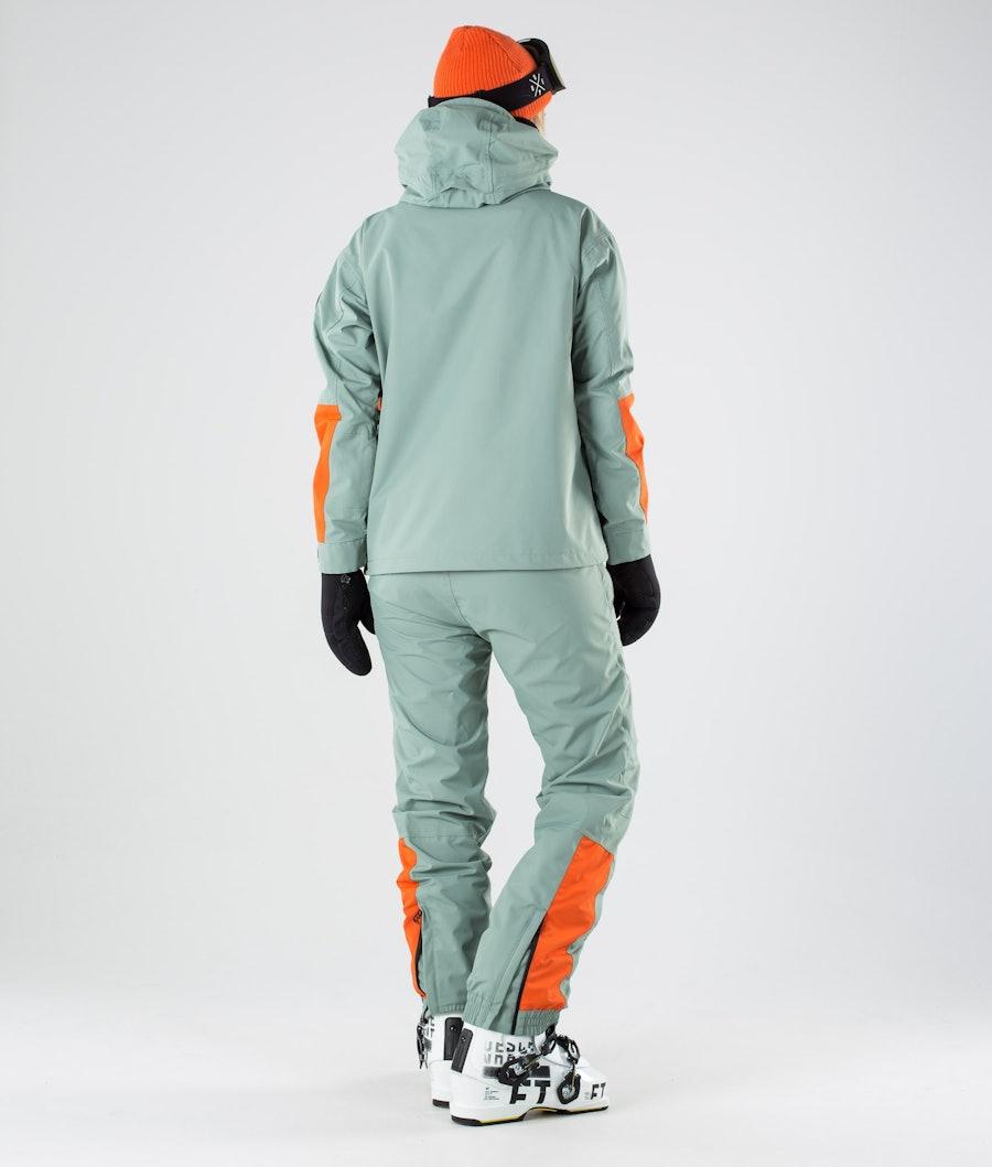 Dope Blizzard LE W Skijakke Dame Faded Green Orange