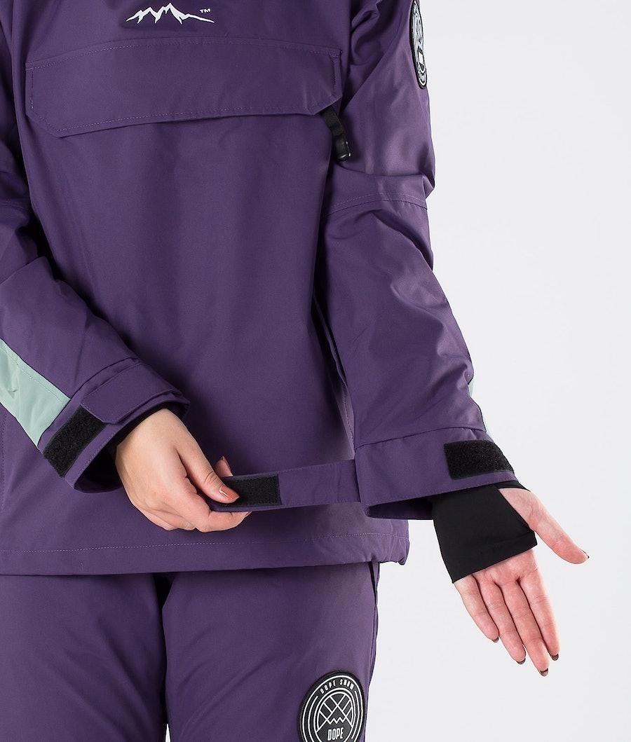 Dope Blizzard W LE Women's Ski Jacket Grape Faded Green