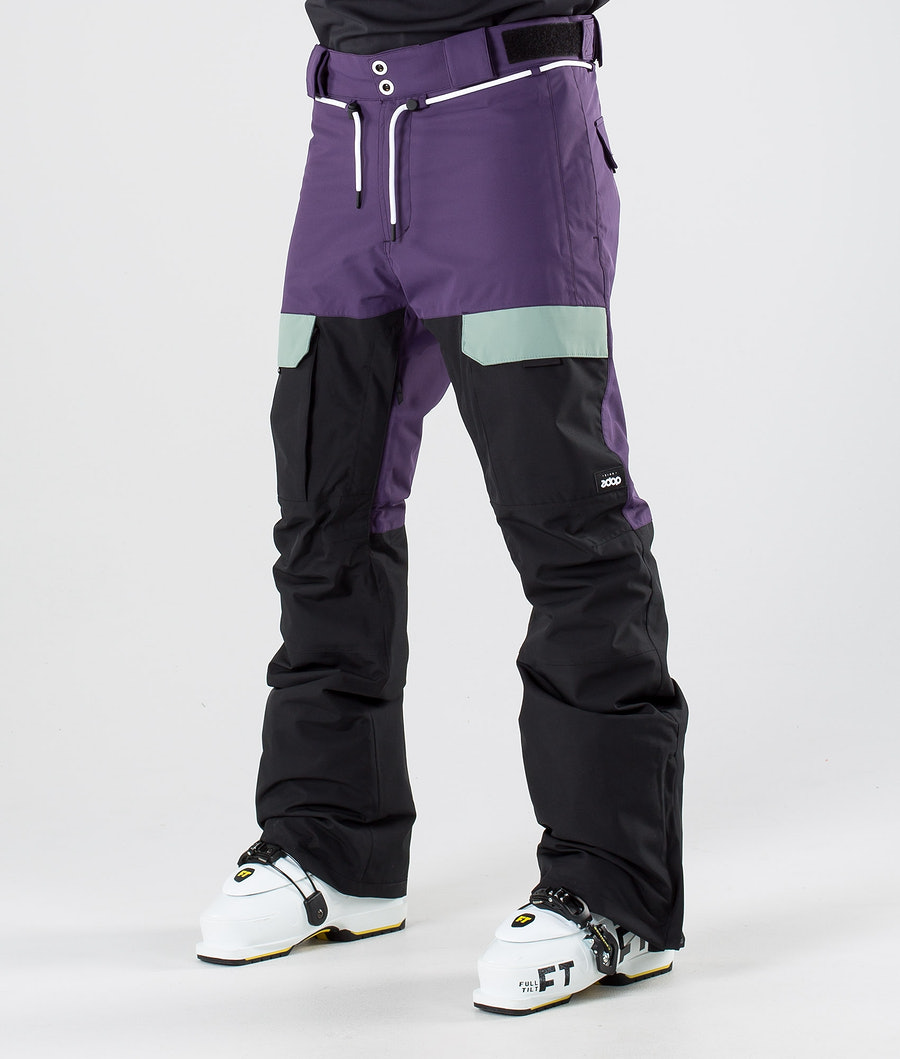Dope Poise Ski Pants Grape Faded Green Black