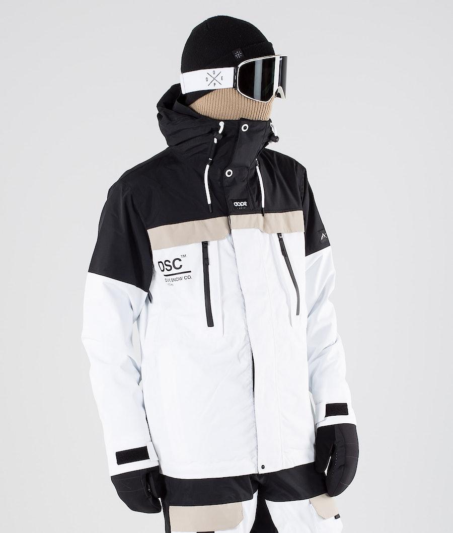 Dope Lunar DSC Ski Jacket Black Sand White
