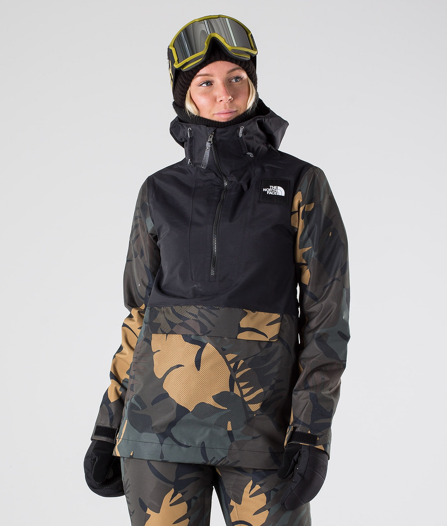 The North Face Tanager Skijakke Tnf Black/Newtaupgrnpalmsprt