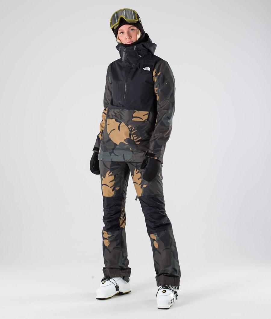 The North Face Tanager Skijakke Dame Tnf Black/Newtaupgrnpalmsprt