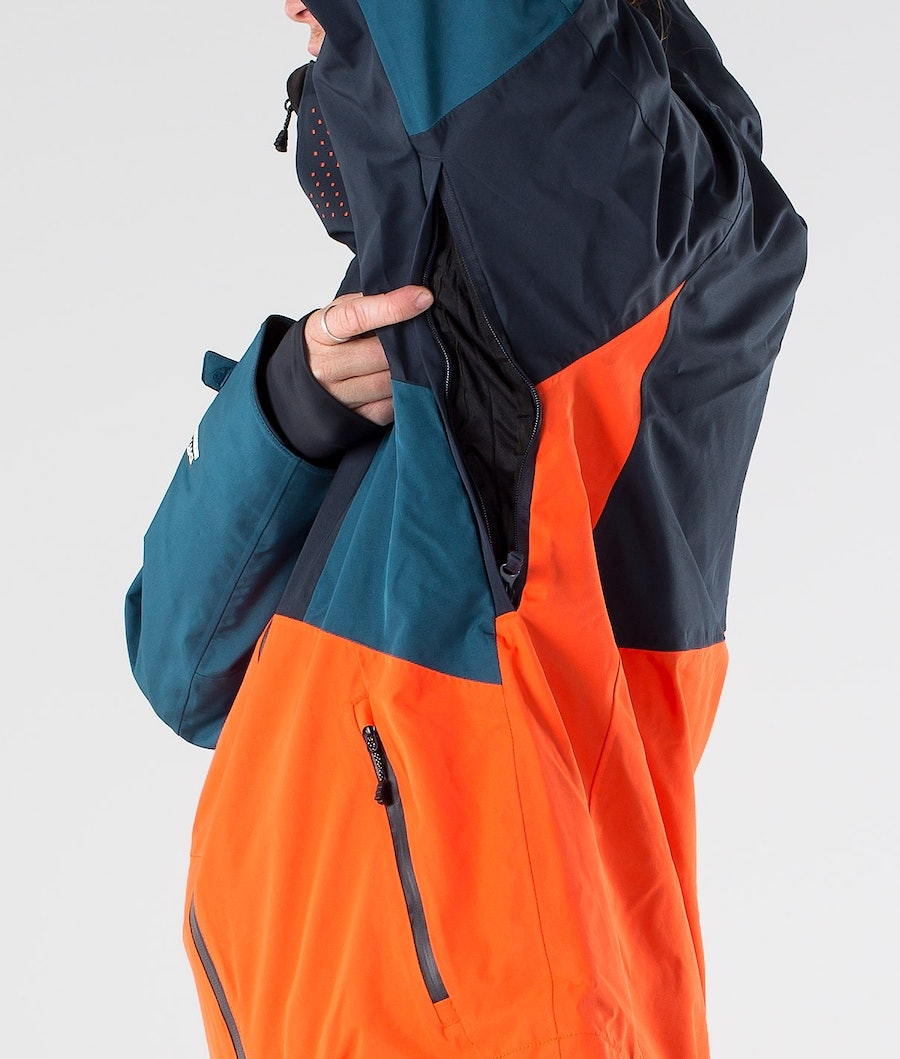Picture Alpin Skidjacka Orange Dark Blue