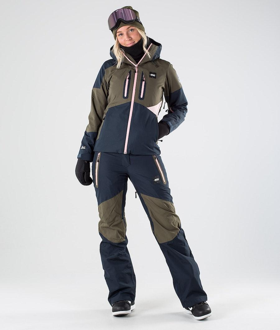 Picture Seen Snowboardjakke Dame Dark Army Green