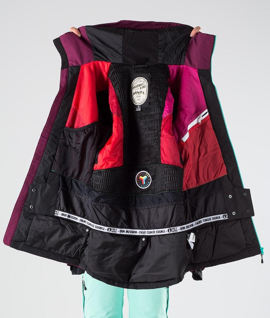 Picture Apply Snowboardjakke Dame Raspberry