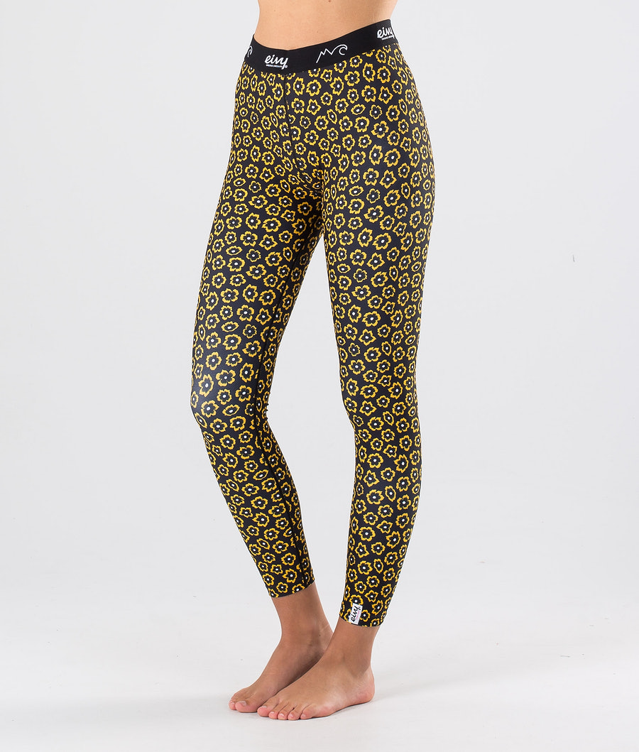 Eivy Iceold Tights Base Layer Pant Yellow Flower