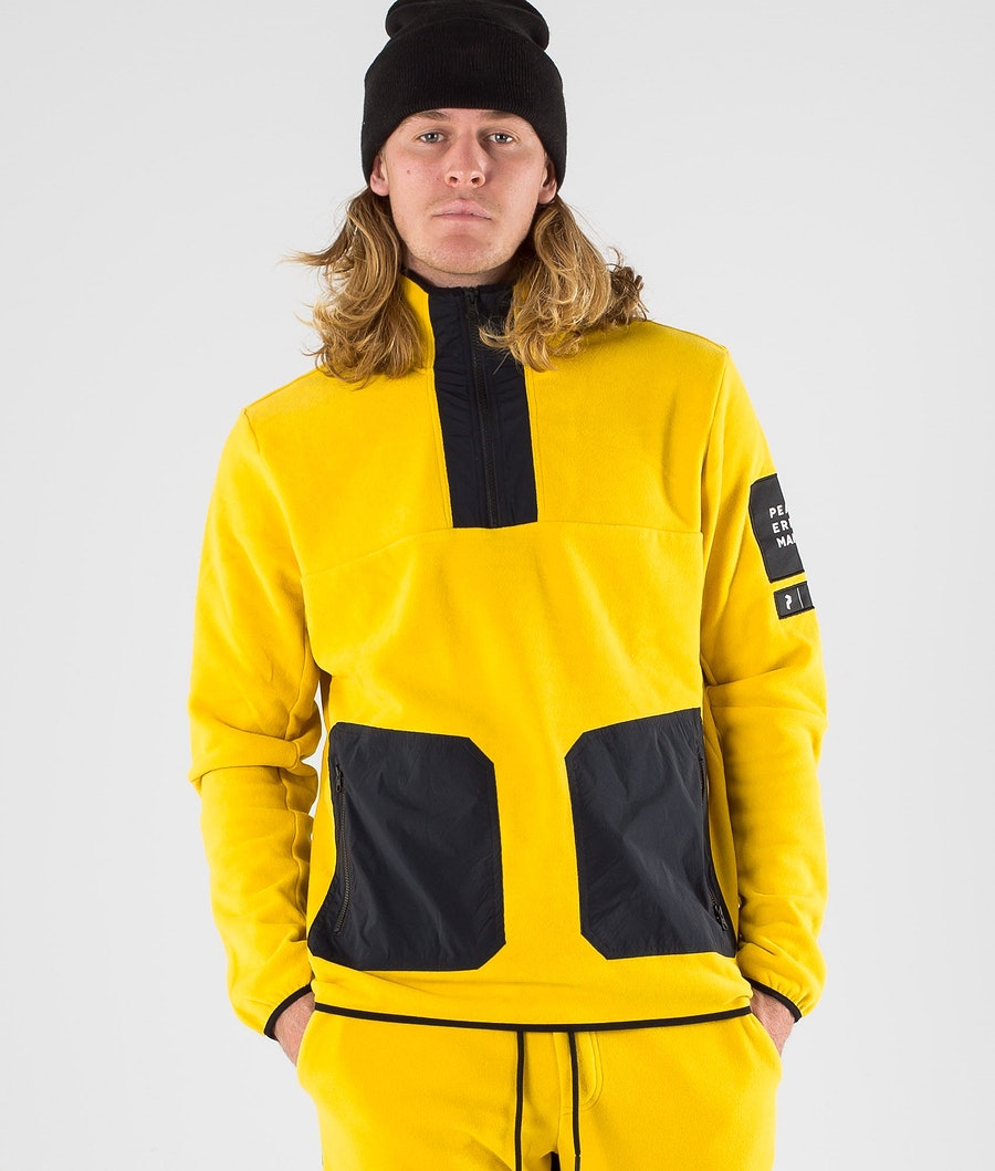 Peak Performance 2.0 Fleece/Woven TN Sweats Polaire Yellow Flow
