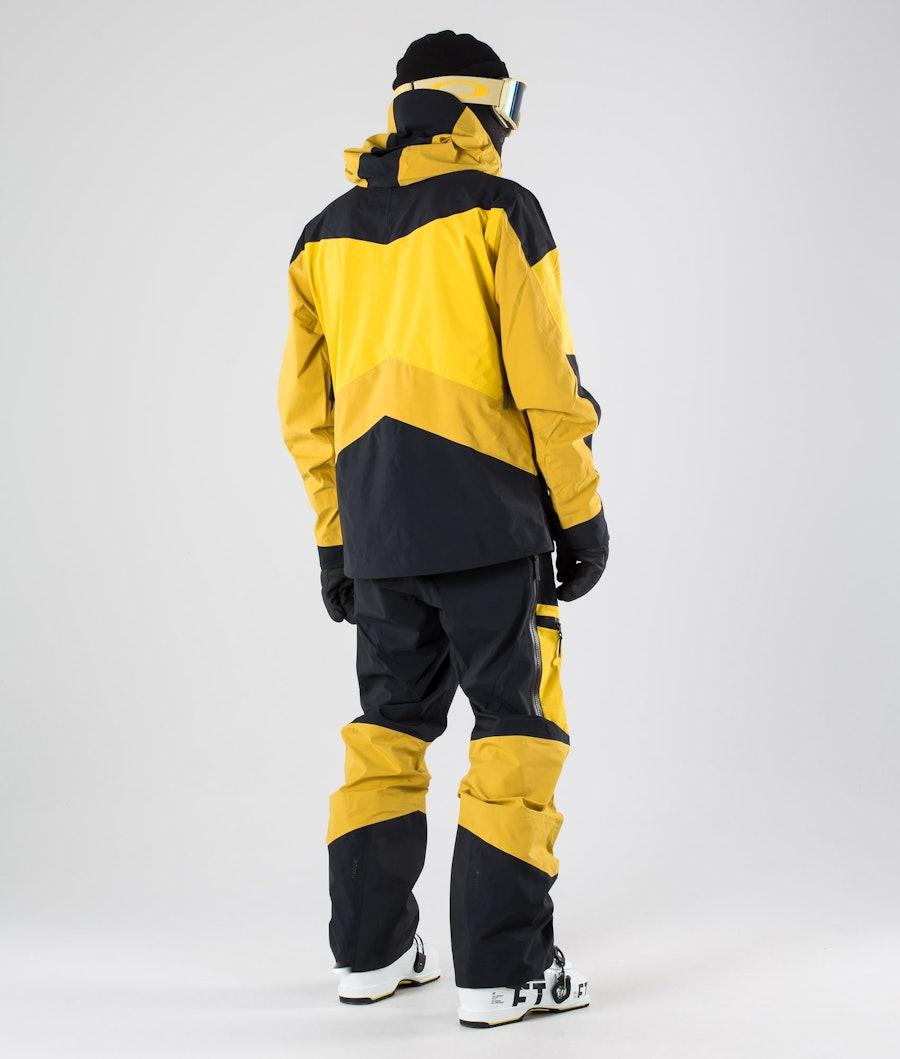 Peak Performance Gravity Veste de Ski Yellow Flow