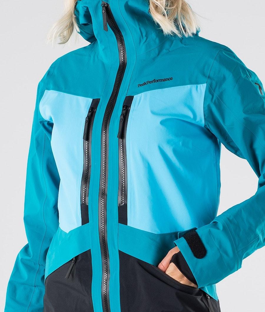 Peak Performance Gravity Women's Ski Jacket Deep Aqua