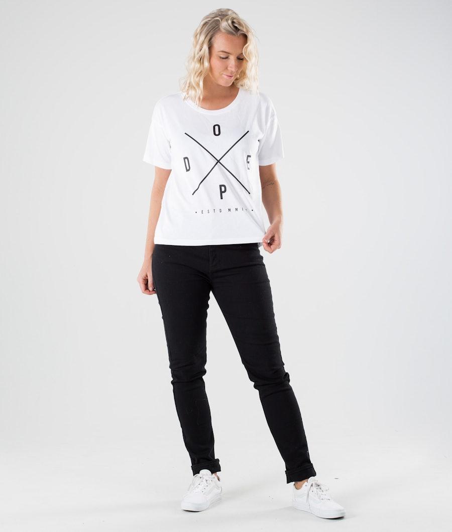 Dope Grand 2X-up T-shirt Dam White