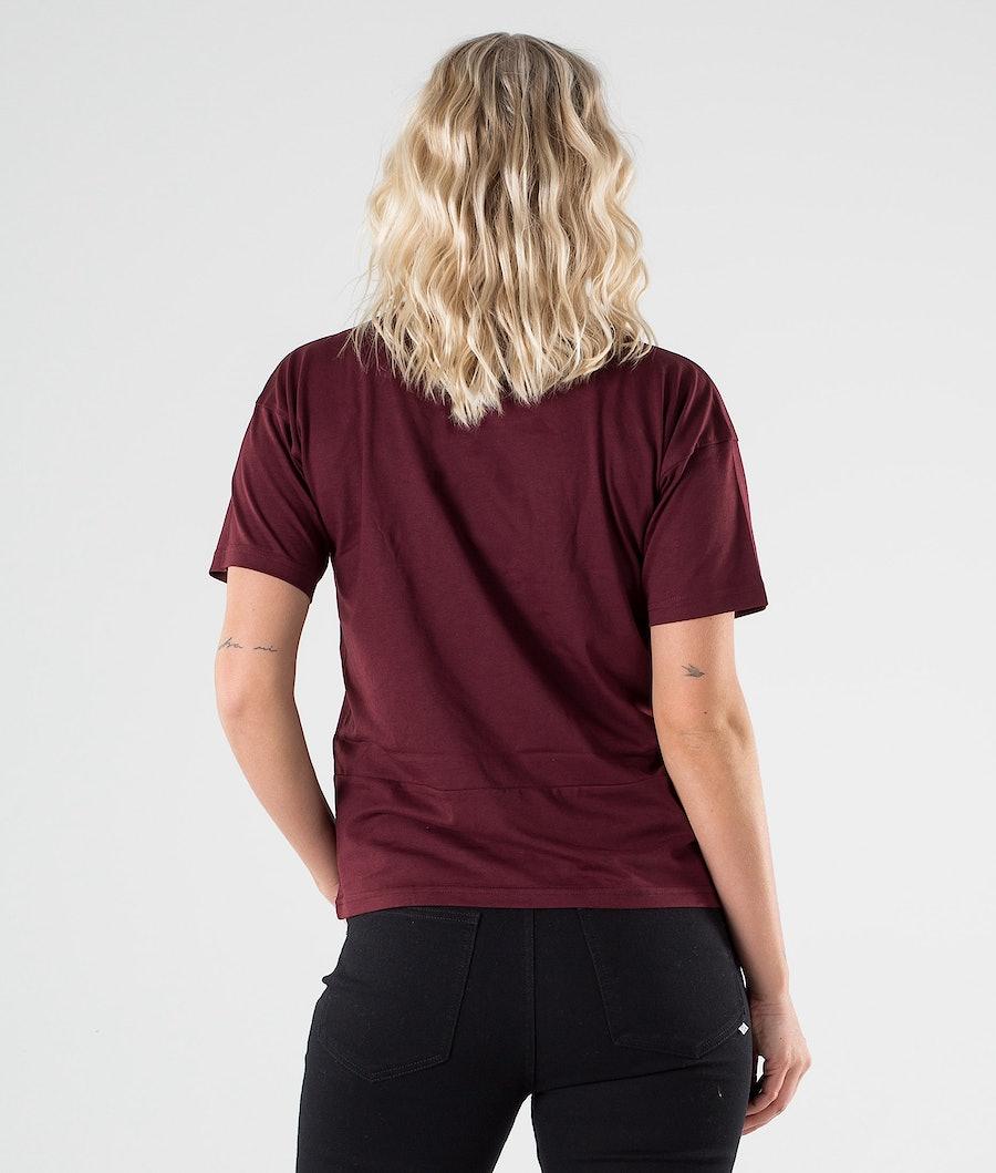 Dope Grand 2X-up T-shirt Dame Burgundy