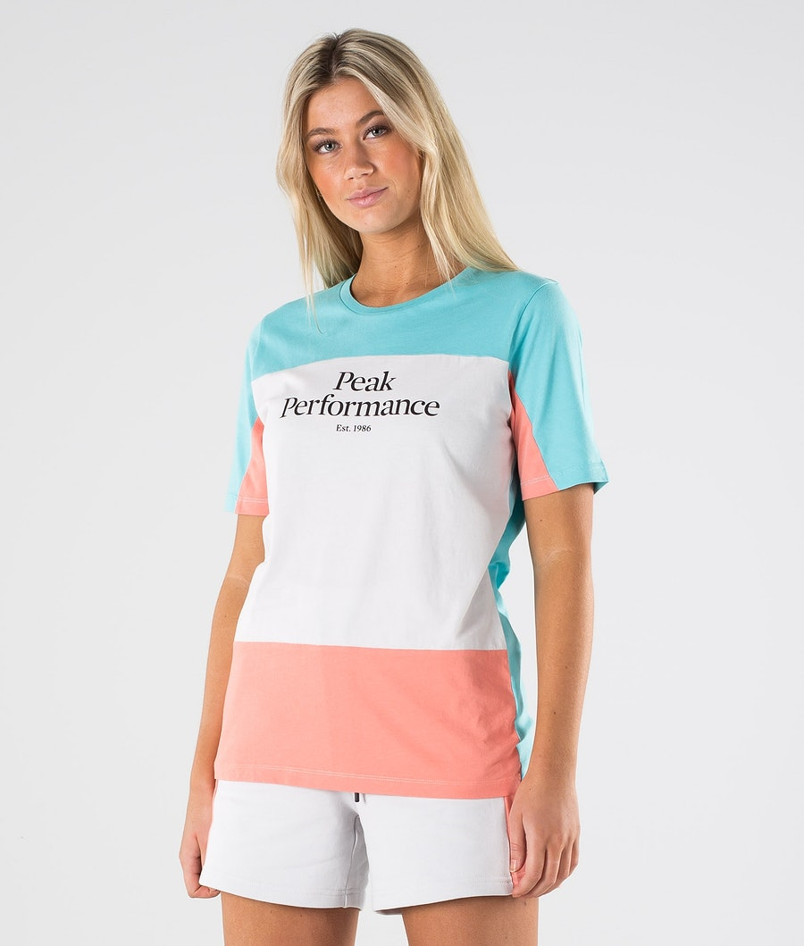 Peak Performance Original Blocked Tee T-shirt Tonic Sky
