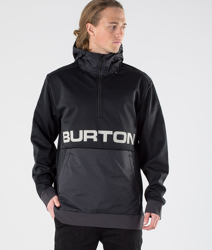 Burton Crown Bonded Performance  Sweatshirt True Black