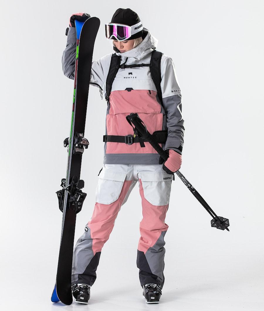 Montec Dune W Skidjacka Dam Light Grey/Pink/Light Pearl