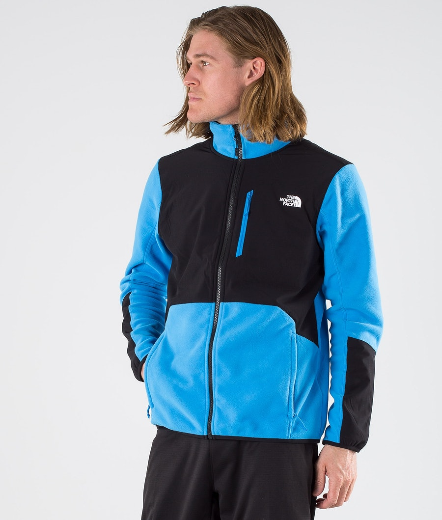 The North Face Glacier Pro Full Zip Fleece Sweater Clear Lake Blue/Tnf Black