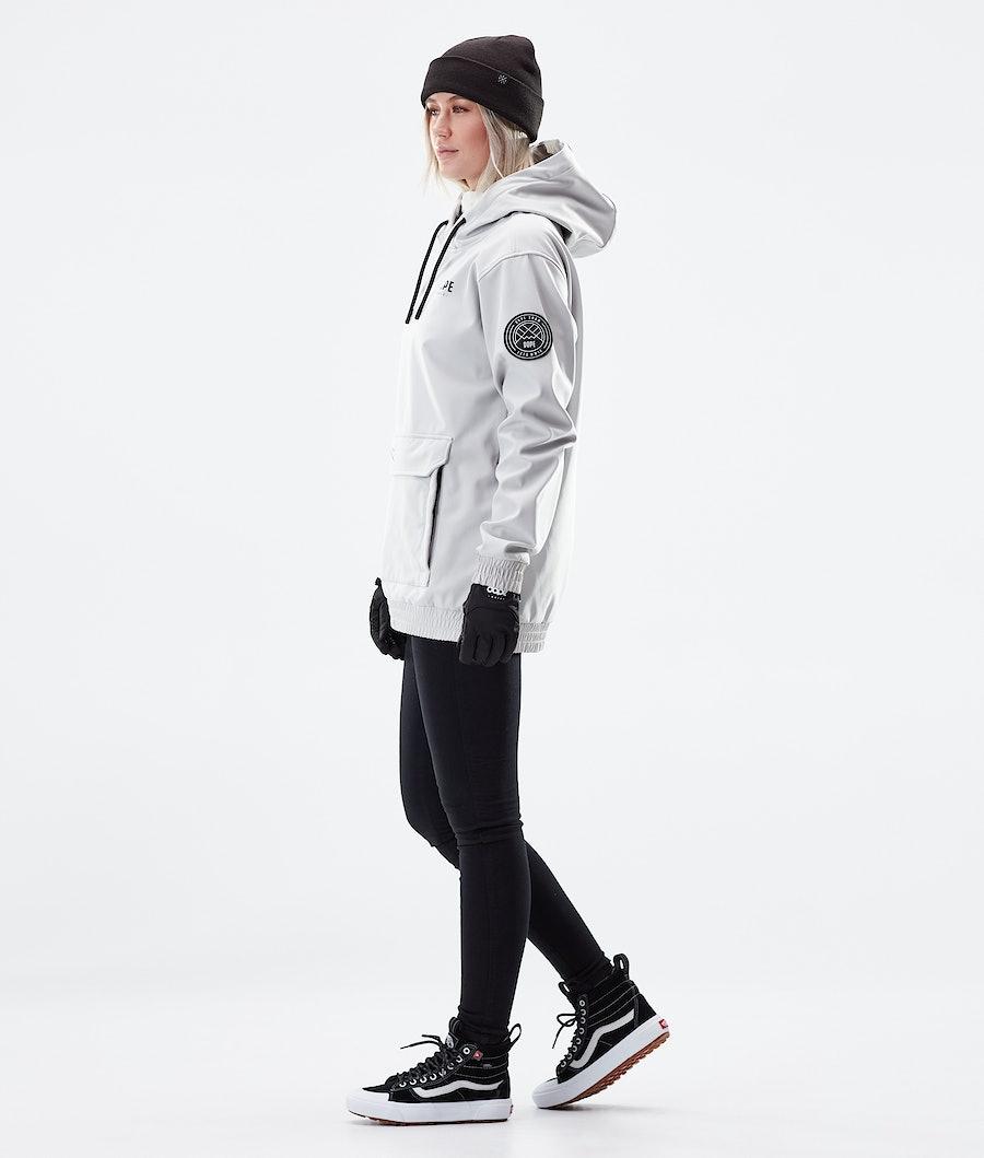 Dope Wylie Capital W Women's Winter Jacket Light Grey