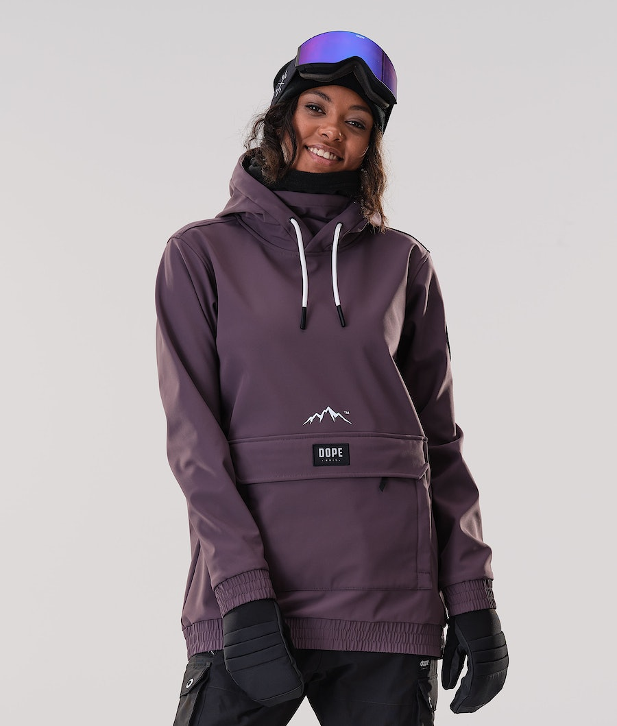 Dope Wylie Patch W Ski jas Light Plum