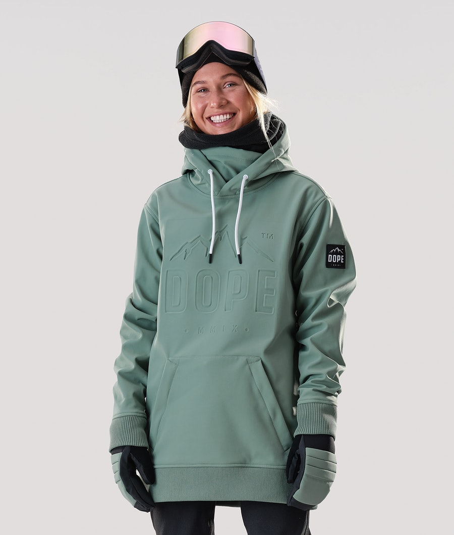 Dope Yeti EMB Skijacke Faded Green