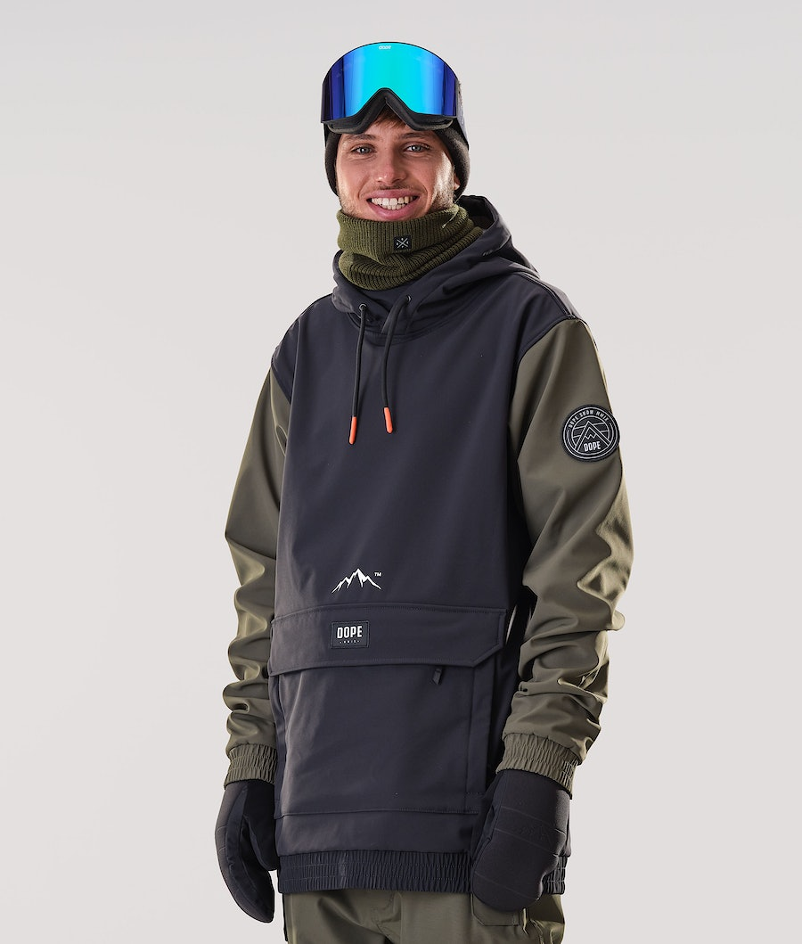 Dope Wylie Patch Ski Jacket Black/Olive Green
