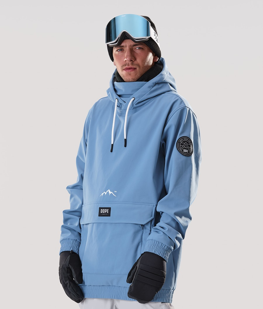Dope Wylie Patch Ski Jacket Blue Steel