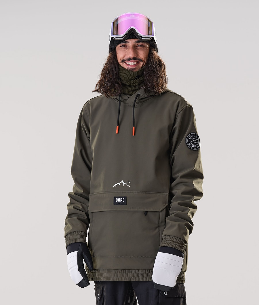 Dope Wylie Patch Ski Jacket Olive Green