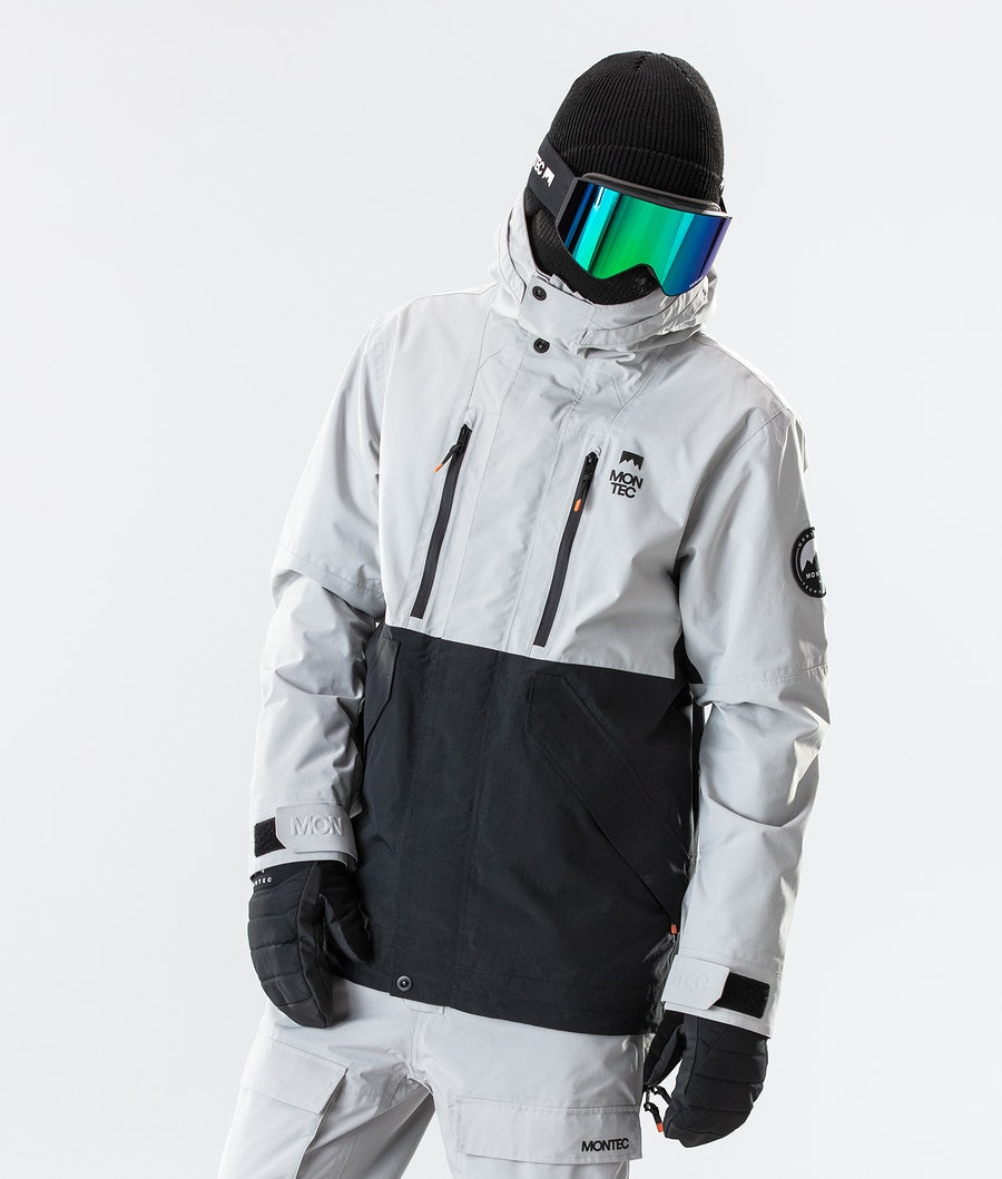 Montec Roc Skijacke Light Grey/Black