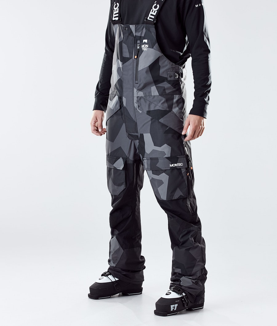 Montec Fawk Skibroek Night Camo/Black