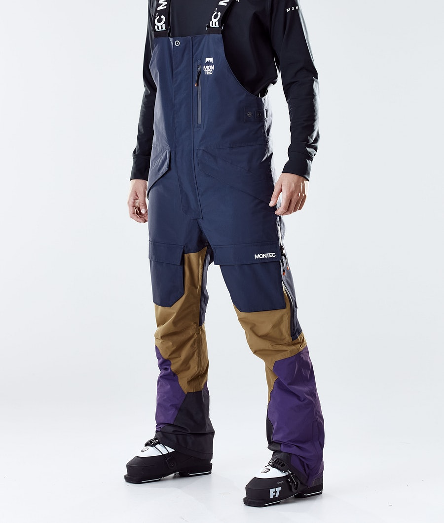 Montec Fawk Skibroek Marine/Gold/Purple