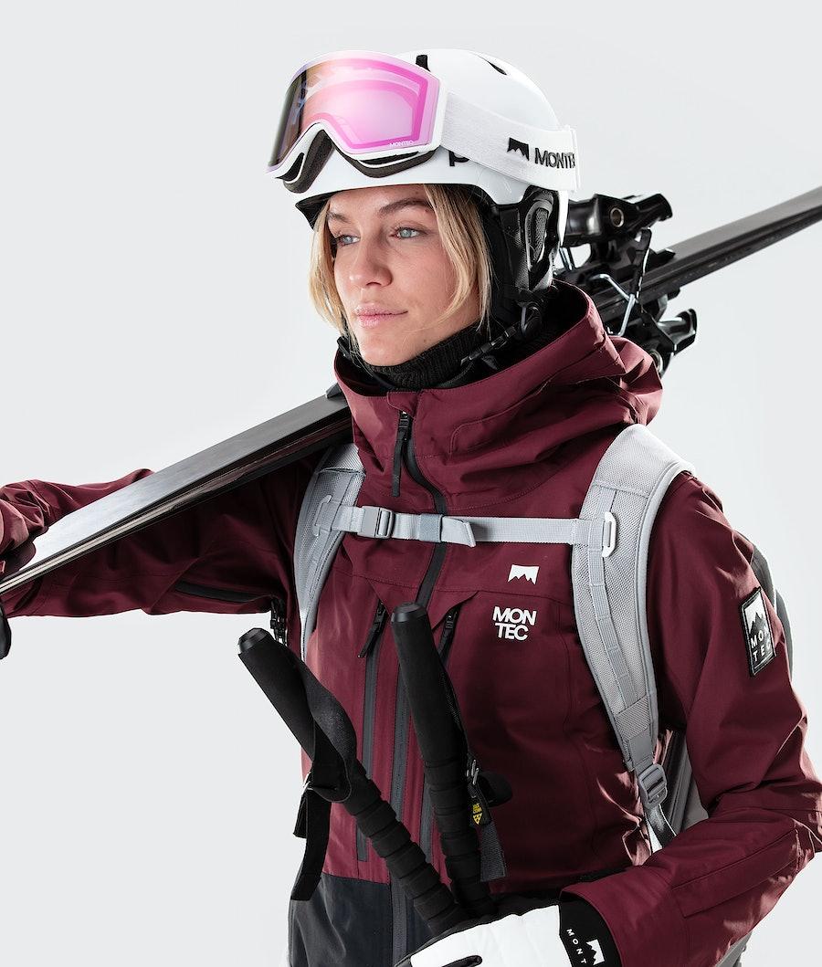 Montec Moss Veste de Ski Femme Burgundy/Black