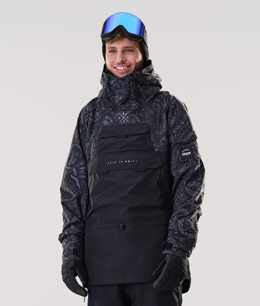 Dope Akin Ski Jacket Shallowtree/Black